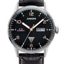 Junkers G38 6966-5 Day-Date Automatik silber, schwarz 10 ATM...