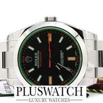 Rolex Milgauss nuovo new  116400 GREEN GLASS 40mm