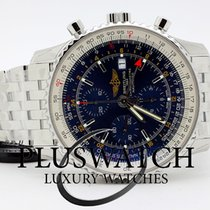 Breitling Navitimer world steel Blue Dial