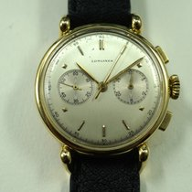 Longines Chronograph caliber 13 ZN 18k w/historical papers c.1946