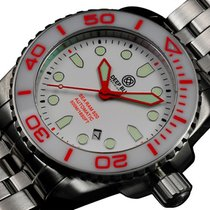 Deep Blue Sea Ram 500 Auto Diving Watch Wr 500m Wht/red Bezel...