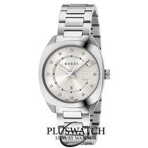 Gucci Quartz Diamond Date Silver Dial R
