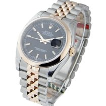 Rolex Unworn 116201 Mens 2-Tone Rose Gold Datejust with Domed...