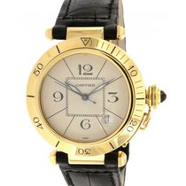 Cartier Pasha W3004856 Yellow Gold, Leather, 38mm