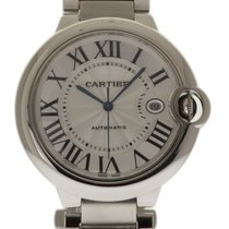 Cartier Ballon Bleu 42mm Steel W69012Z4 Silver Automat Box/P...