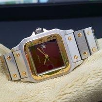 까르띠에 (Cartier) Santos Galbee Burgundy Dial 28mm