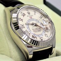 Rolex Sky-dweller 326139 Perpetual 18k White Gold Ivory Dial...