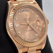 Rolex President Day-date 41mm 218235 18k Rose Gold Factory...