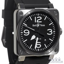 Bell & Ross Automatic Square Watch BR03-92S Steel Black...