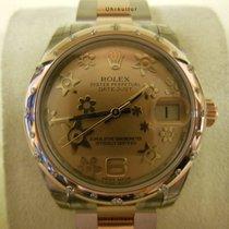 Rolex Datejust, Ref. 178341 - rosa floral Zifferblatt/Oysterband