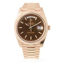 Ρολεξ (Rolex) Day-date 18k Rose Gold Brown Automatic 228235BRD...