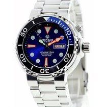 Deep Blue Sun Diver III 1000m Wr Auto Day/date Watch Blue Dial...