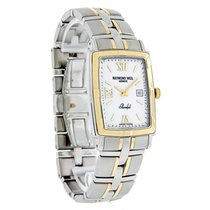Raymond Weil Parsifal Mens 18K Gold 2T/SS Swiss Watch 9340-STG...