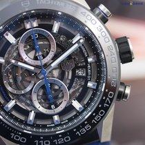 TAG Heuer Men's CARRERA Heuer 01 Blue Touch 45mm Steel on...