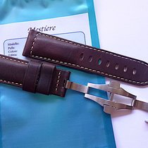 Bodhy Handmade Dark Asso leather strap in 24mm with deplo...