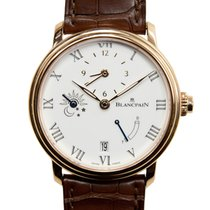 Blancpain Villeret 18k Rose Gold White Automatic 6661-3631-55B
