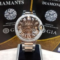 Cartier Ballon Bleu 42mm rosegold/steel after market diamond...