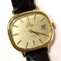 Omega De Ville Automatic 18k Yellow Gold Unisex Watch Black...