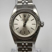 Rolex Oyster Perpetual Lady Silver Stick Dial