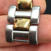 Cartier Maglia lucida satinata Link Strap acciaio steel Oro Gold
