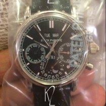 Patek Philippe 5204P Split Seconds Chronograph Platinum Black...