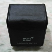 Montblanc vintage watch service leather box black
