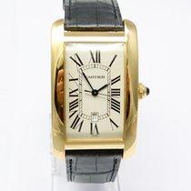Cartier Tank Américaine 18 Karat Gold Automatik Datum GM 1740