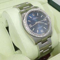 Rolex New Style Oyster Perpetual Blue Dial 36mm 1.45ct Diamond...