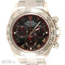 Rolex Daytona 116509 Whitegold Black Racing Dial M-Series Papiere