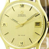 Omega De Ville Date Cal 1002 18k Gold Automatic Watch 162046...