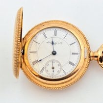 Elgin Gold Filled White Dial Pocket Watch Grade 222