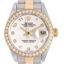 Rolex Ladies Diamond Rolex Datejust Watch 69173 Ivory Jubilee...