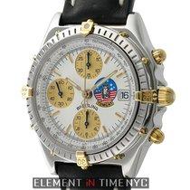 Breitling Chronomat Steel & 18k Yellow Gold White Dial...