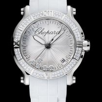 Chopard Happy 36mm Quartz  Silver Guilloché  Dial RO