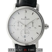 Blancpain Villeret Single Pusher Chronograph Steel 38mm White...