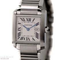 Cartier Tank Francaise Medium Size Stainless Steel Bj-2003...