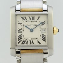 Cartier Tank Francaise Quartz Steel-Gold Lady 2465