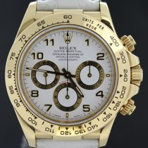 Rolex Daytona Zenith Yellow Gold, Croco Strap Full Set  1998 MINT