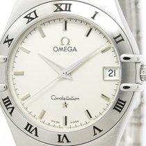 Omega Polished Omega Constellation Stainless Steel Quartz Mens...