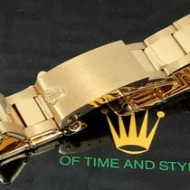 Rolex Vintage ROLEX 18k GOLD Riveted Link Oyster Deployment...
