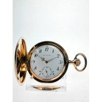 Union Hologerie Gold- Savonette Taschenuhr, Rotgold