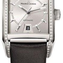 Maurice Lacroix Pontos Rectangulaire Diamonds Neu Box&Papi...