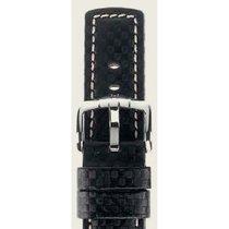 Hirsch Uhrenarmband Leder Carbon schwarz L 02592050-2-24 24mm
