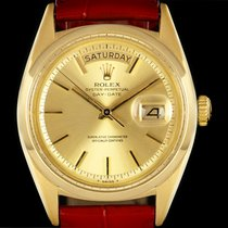 Rolex 18k Yellow Gold O/P Champagne Baton Vintage Day-Date 1803