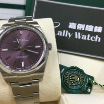 Rolex Cally - 114300 39mm Oyster Perpetual Steel Red Grape Dial