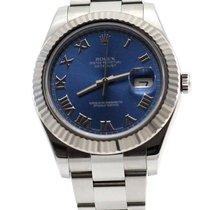 Ρολεξ (Rolex) Datejust II Steel and White Gold Blue Roman Dial