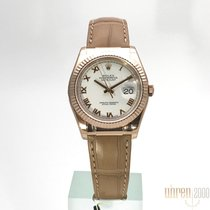 Rolex Datejust 36 Everose-Gold Ref. 116135  Weiß