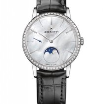Zenith Elite Lady Moonphase Stainless Steel & Diamonds...