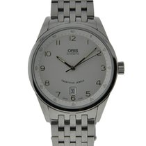 Oris Classic Xxl Date In Stainless Steel With White Dial On...