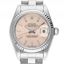 Rolex Datejust Lady Stahl 18kt Weißgold Automatik Armband...